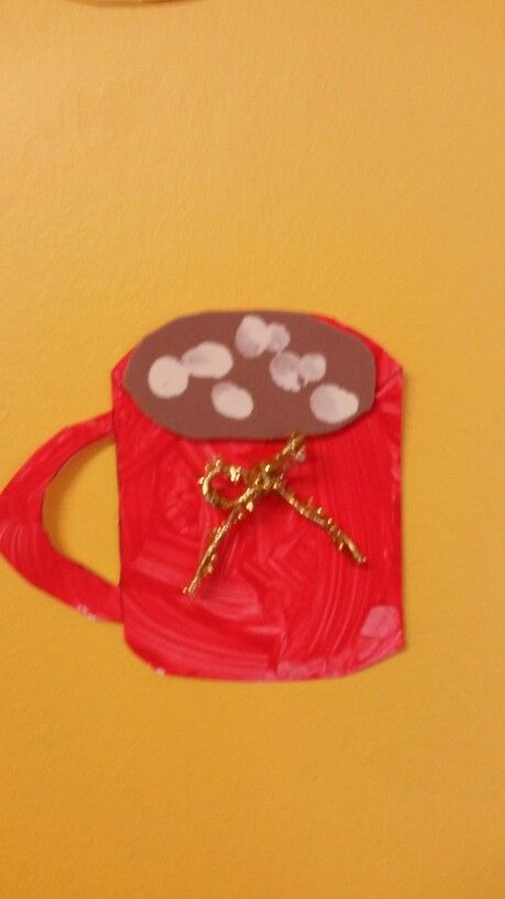 Red hot chocolate mug