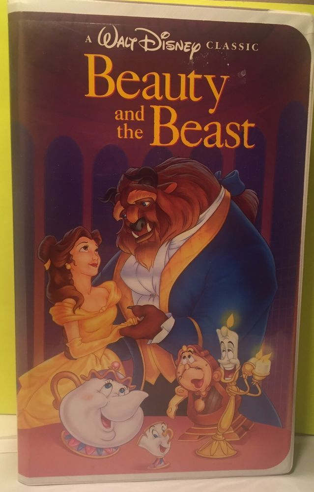 Beauty and the Beast Disney Clamshell VHS video 1992 collectors black diamond.  | eBay
