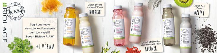 MATRIX BIOLAGE RAW aspira a fornire ottimi prodotti naturali per il benessere dei vostri capelli minimizzando al massimo l'impatto con l'ambiente.