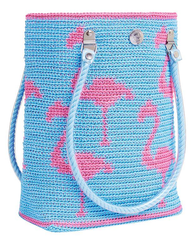 Flamingo Blue - super crochet bag :)