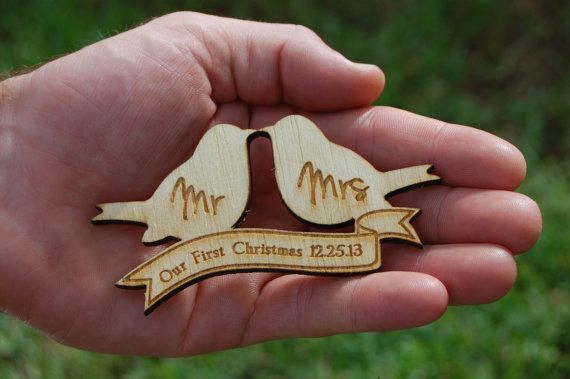 Rustic Wedding Ideas and Inspiration - Our First Christmas Ornament as Mr and Mrs by UrbanFarmhouseTampa, $4.99