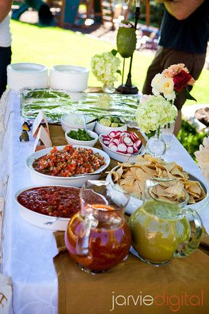 DIY Wedding Buffet Menu - Some of the most popular DIY buffet foods include:  • Lasagna  • Pulled pork sandwiches  • Baked chicken  • Meatballs  • Mac and cheese  • Baked beans  • Chicken fettuccini  • Pasta salad  • Garden salad  • Fruit arrangements  • Veggie trays and dip  • Rolls
