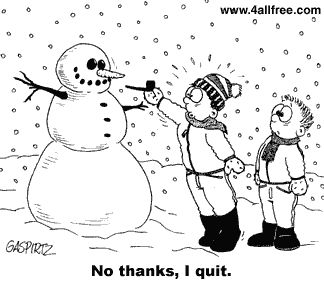 hilarious funny cartoon - christmas humor - holiday humor - winter humor - snowman humor - snowmen humor - Kids build a snowman and try to p...