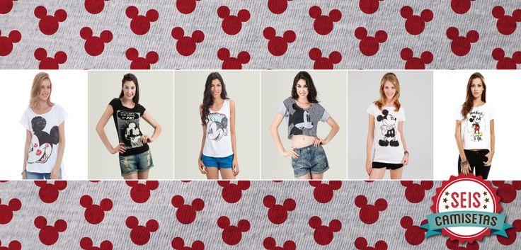Seis Camisetas para quem ama o Mickey | T-shirt News