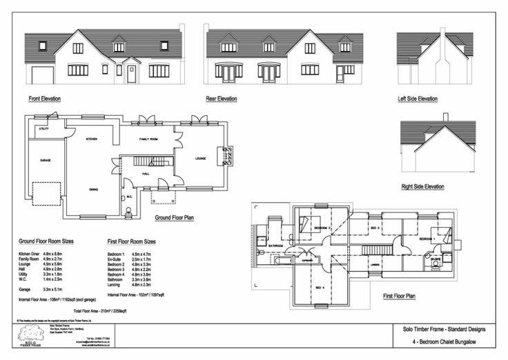 4 bedroom self build timber frame chalet bungalow design for Self build floor plans