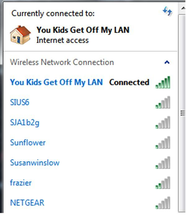 The 40 Funniest Wi-Fi Names Ever