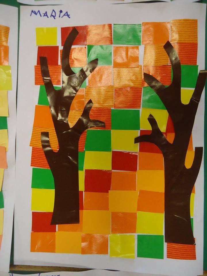 bomen laten scheuren door de kleuters, in één stuk