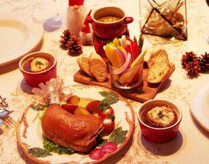 Christmas dinner /  chicken