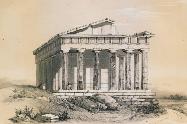 The temple of Hephaestus in Athens. - COOK, Henry - TRAVELLERS' VIEWS - Places – Monuments – People Southeastern Europe – Eastern Mediterranean – Greece – Asia Minor – Southern Italy, 15th -20th century