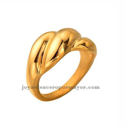Anillo lujoso de color dorado venta por mayor