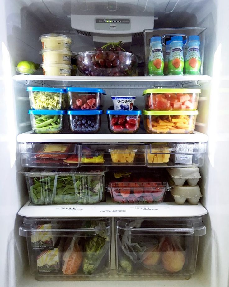 Organized Fridge...all ready for back to school!