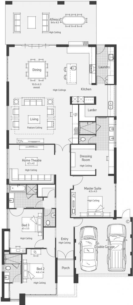 Nine Display Home - Lifestyle Floor Plan. I think this house could easily be adjusted to suit.