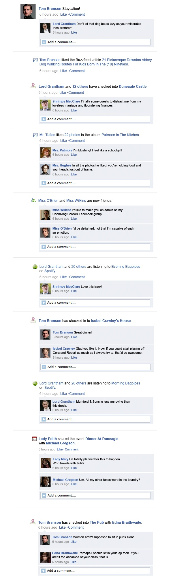 Downton Abbey Facebook Recap Season 3 Episode 7 | Happy Place @Erika Strautnieks @Courtney Strautnieks @Mary Pollock