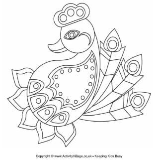 Rangoli designs to print for kids to colour or glue