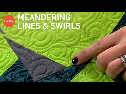 How to Free Motion Quilt: Feathered Flower - YouTube