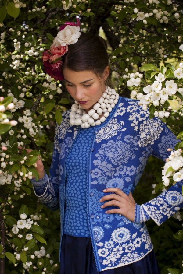 The Spring Collection 2014 by Oleana. The seasonal colors are blue, white, red and muted colors as light purple and lavender with hints of mustard.