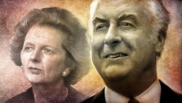 THATCHER A CRAZED HATED CONSERVATIVE . WHITLAM A MAN FOR ALL PEOPLES. A GREAT STATESMAN. LOVED BY ALL photo by SMH What a hide by Amanda Vanstone to compare them in her article in the Sydney Morning Herald.