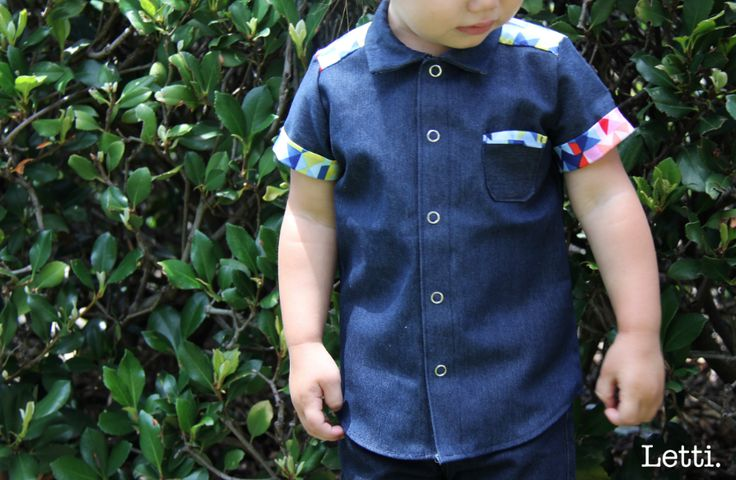 So Cute!   This is our Very New Button Up - Tri-colour.  Just Perfect for all of the Handsome Little Boys in your Life.  It would make the Best Gift!   Get yours Now!  www.letti.com.au