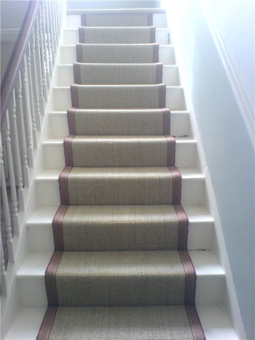 Sisal Stair Runner Basement Renovation Pinterest