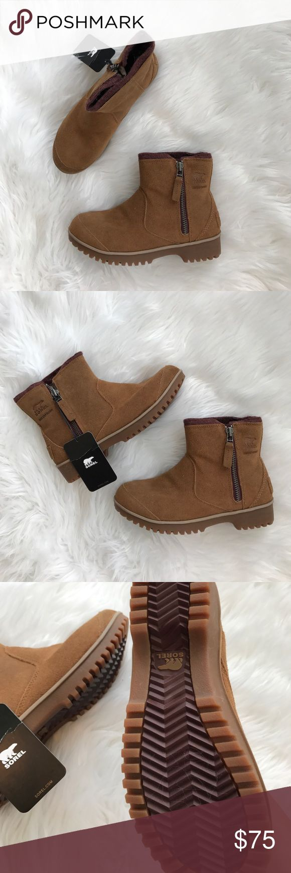 • Sorel • Meadow Zip Tan Waterproof Boots 7 NWT - Sorel - New with Tags  - Tan - Meadow Boots - Size 7 - No Box Sorel Shoes Winter & Rain Boots
