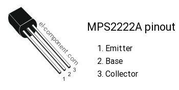 MPS2222A transistor pinout