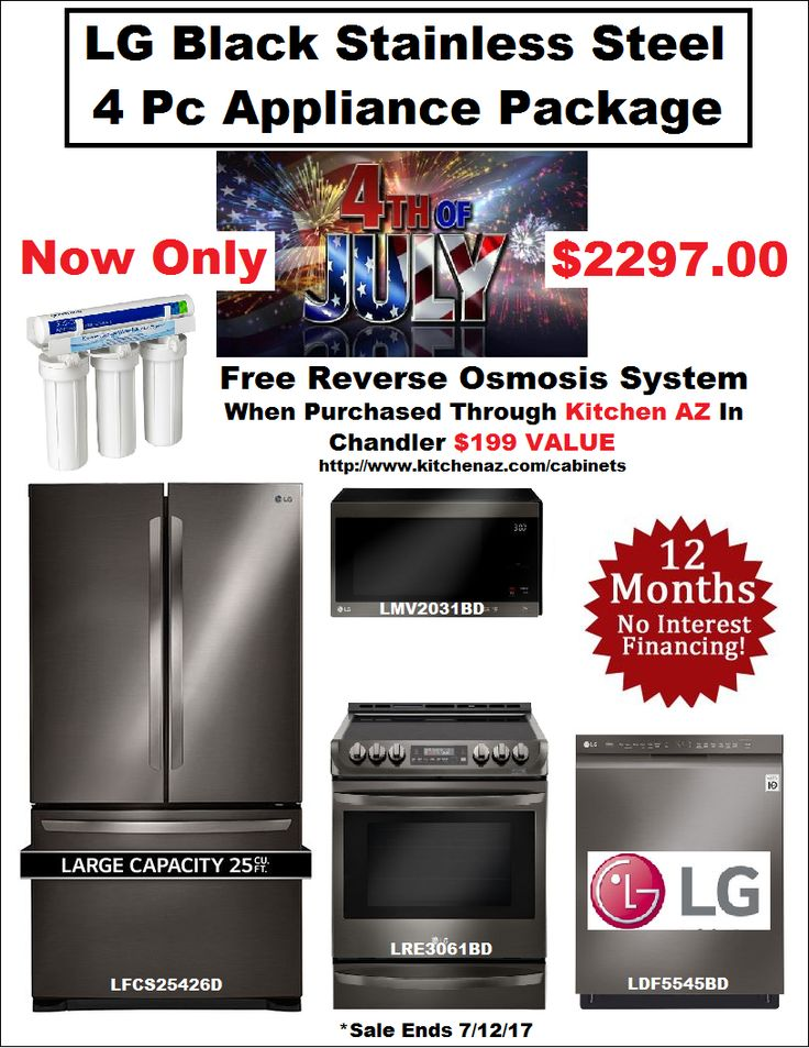 LG Black Stainless Steel Appliance Package Includes refrigerator Dishwasher range microwave and free RO system Mesa Gilbert Chandler ONLY $2297