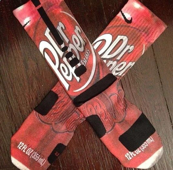 Nike Elite Socks decorated with Dr Pepper by SockoSocks on Etsy, $35.99