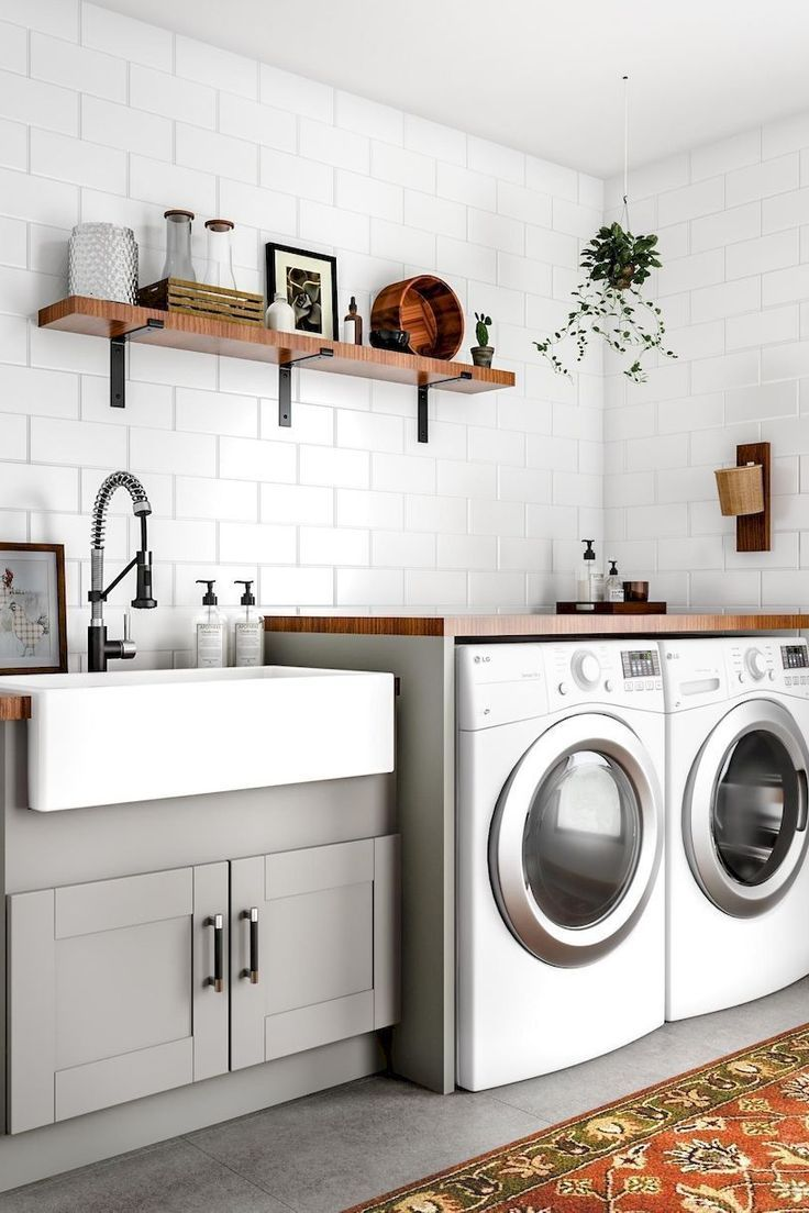 Laundry Room Hampton Bay Kitchen Cabinet Cabinetry Major Appliance