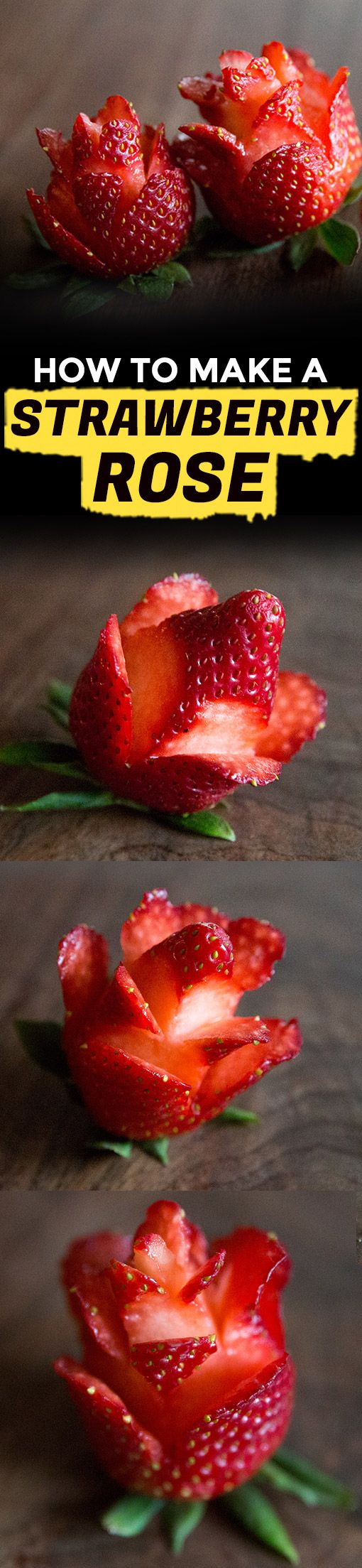 How to Make Strawberry Roses | Extra Crispy