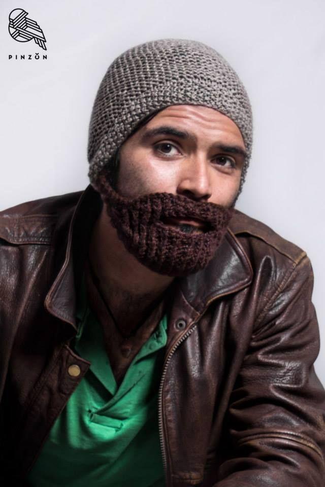 gorro con barba aguja circular www.facebook.com/Pinzontejido