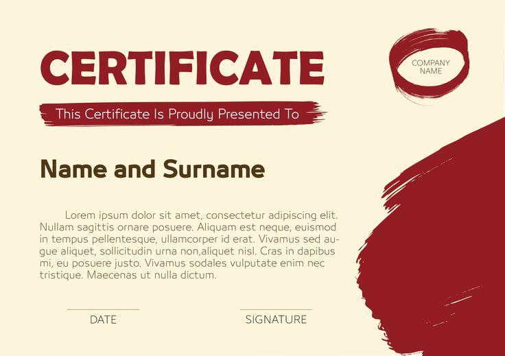A Simple Creative Certificate of appreciation, achievement, attendance or general.