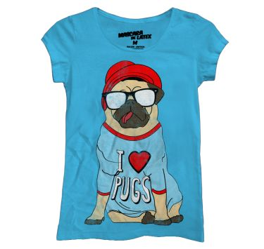 I Love Pugs | MascaraDeLatex.ES