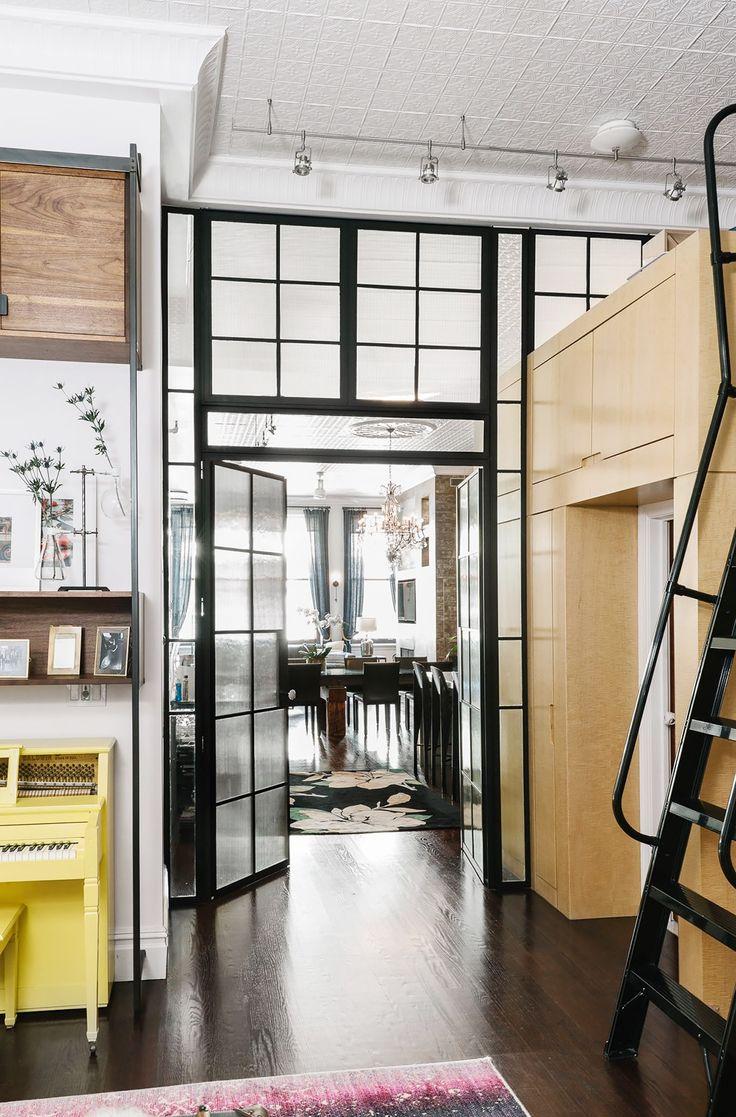 Inside an Edgy Manhattan Loft-Style Apartment   Loft style ...