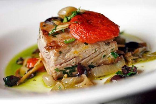 Mediterranean tuna steak recipe   Greedy Chef