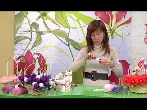 """Программа """"Твое утро"""" Букет из конфет lindas cestas para decorar mesas de festa"""