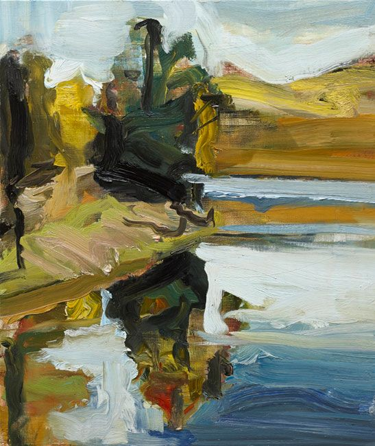 © Robert Malherbe ~ Lake II ~ 2013 oil on linen at Olsen Irwin Gallery Sydney Australia