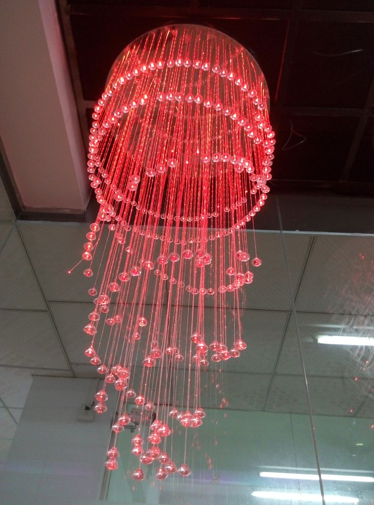 fiber optic chandelier do yo like it for your paplace deco