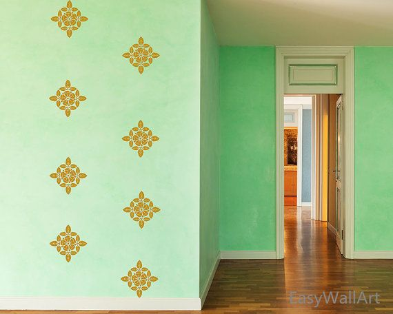 Gorgeous Damask Pattern Wall Decal for by HappyWallzArt on Etsy