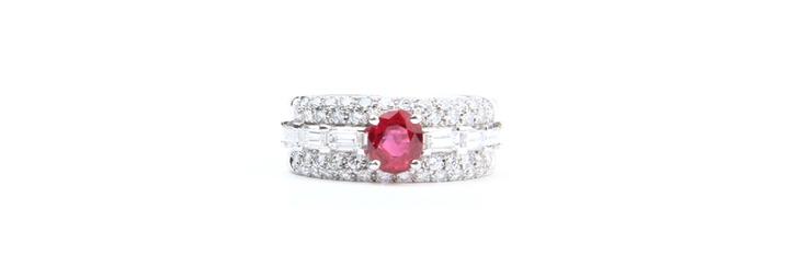 #Ruby #Diamonds #Rings #White Gold  Rings | Joyeria Cesareo