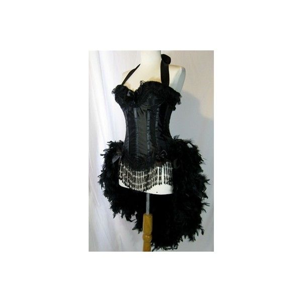 Moulin Rouge Burlesque Costume Showgirl Costume caberet Costume (235 AUD) ❤ liked on Polyvore featuring costumes, corsets, burlesque costumes, burlesque halloween costumes, can can dancer costume, showgirl costume and showgirl halloween costume