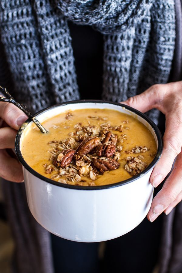 Brie + cheddar apple beer soup with cinnamon pecan oat crumble