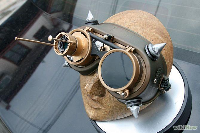 Cómo hacer unas gafas steampunk con unas gafas de los chinos.  How to make  steampunk glasses (goggles)