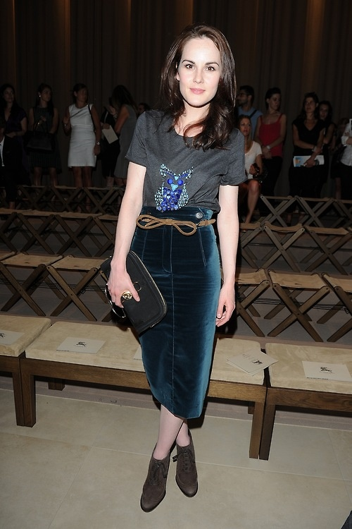 Michelle Dockery in Burberry