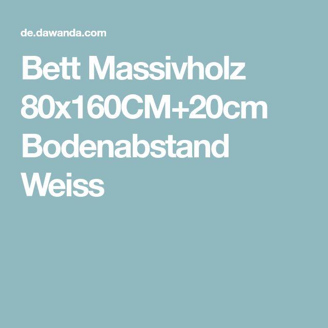Bett Massivholz 80x160CM+20cm Bodenabstand Weiss