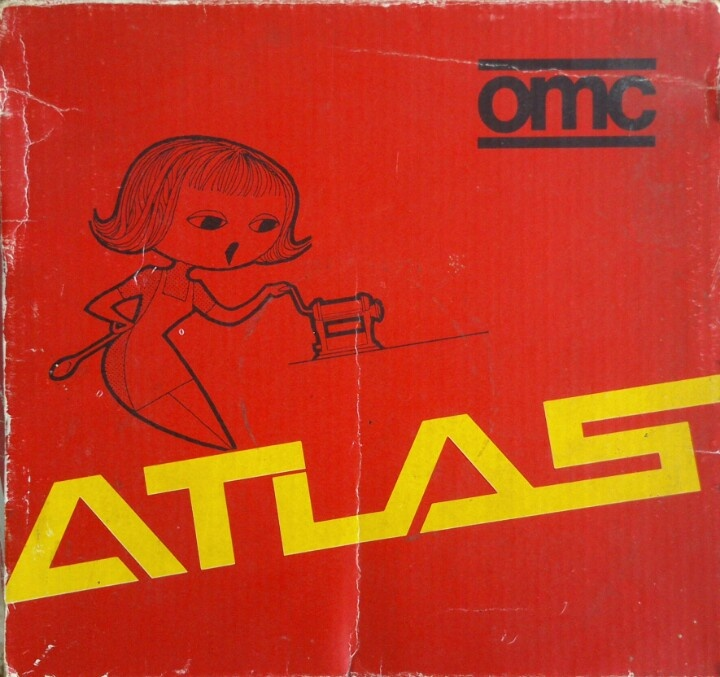 """""""ATLAS"""" noodle maker - macchina per la pasta (OMC, made in Italy) 1974"""