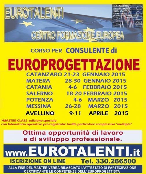 EUROPROGETTAZIONEOpportunità occupazionale e di sviluppo professionale  RIPARTI CON UNA COMPETENZA INNOVATIVA  Diventa esperto EUROPROGETTISTA  https://www.eurotalenti.it    Esprimi il tuo #TALENTO realizzando #progetti europei www.eurotalenti.it Entra nel TEAM DI EURO-PROGETTISTI IN UN LAVORO CHE PREMIA I TALENTI
