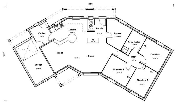308 best plans images on pinterest floor plans future - Plan de maison plein pied ...