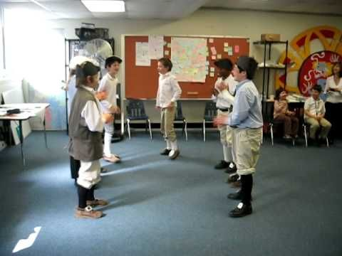 Arts Activities 5th grade colonial dance Use to teach students a colonial dance.