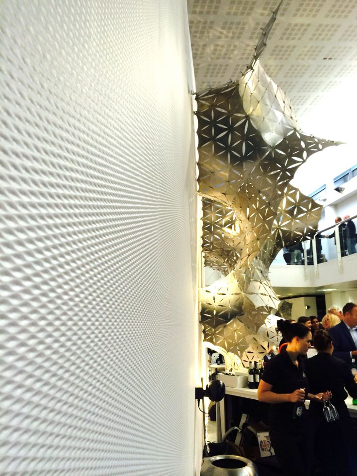 Our new wallcovering 'Space' at The Sleep Hotel bar, Business Design Centre