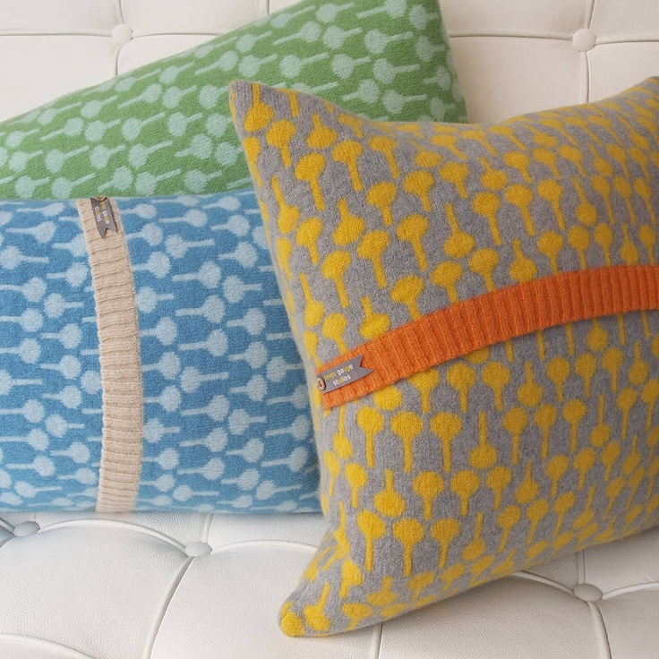 Knitted Lolli Cushions by Seven Gauge Studios